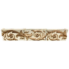 Set of '3' Architectural Italian Blocks with Acanthus Leaf Design