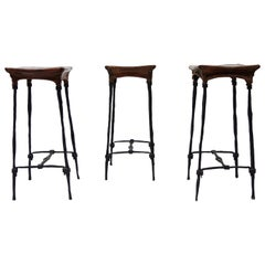 Set of 3 Bar Stool by François & Sido Thevenin