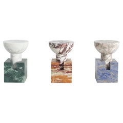 Set of 3 Block Side Table by Anna Karlin