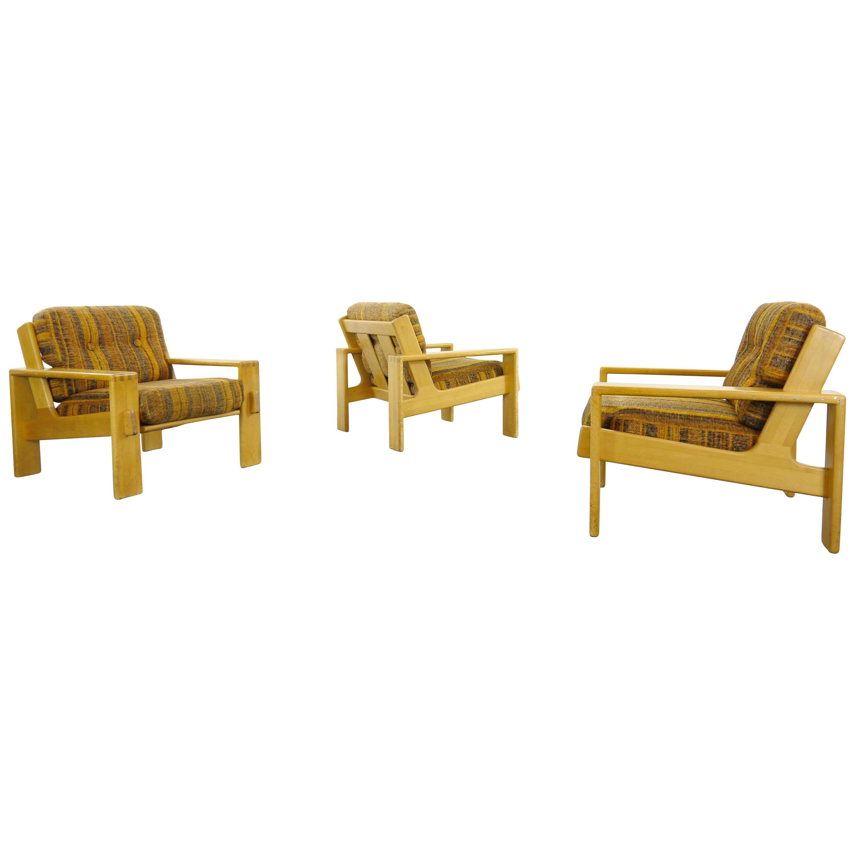 Set of 3 Bonanza Armchairs by Esko Pajamies for Asko, Finland