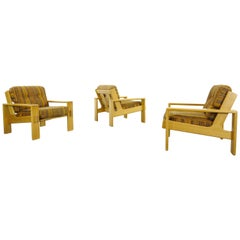 Set of 3 Bonanza Armchairs by Esko Pajamies for Asko, Finland