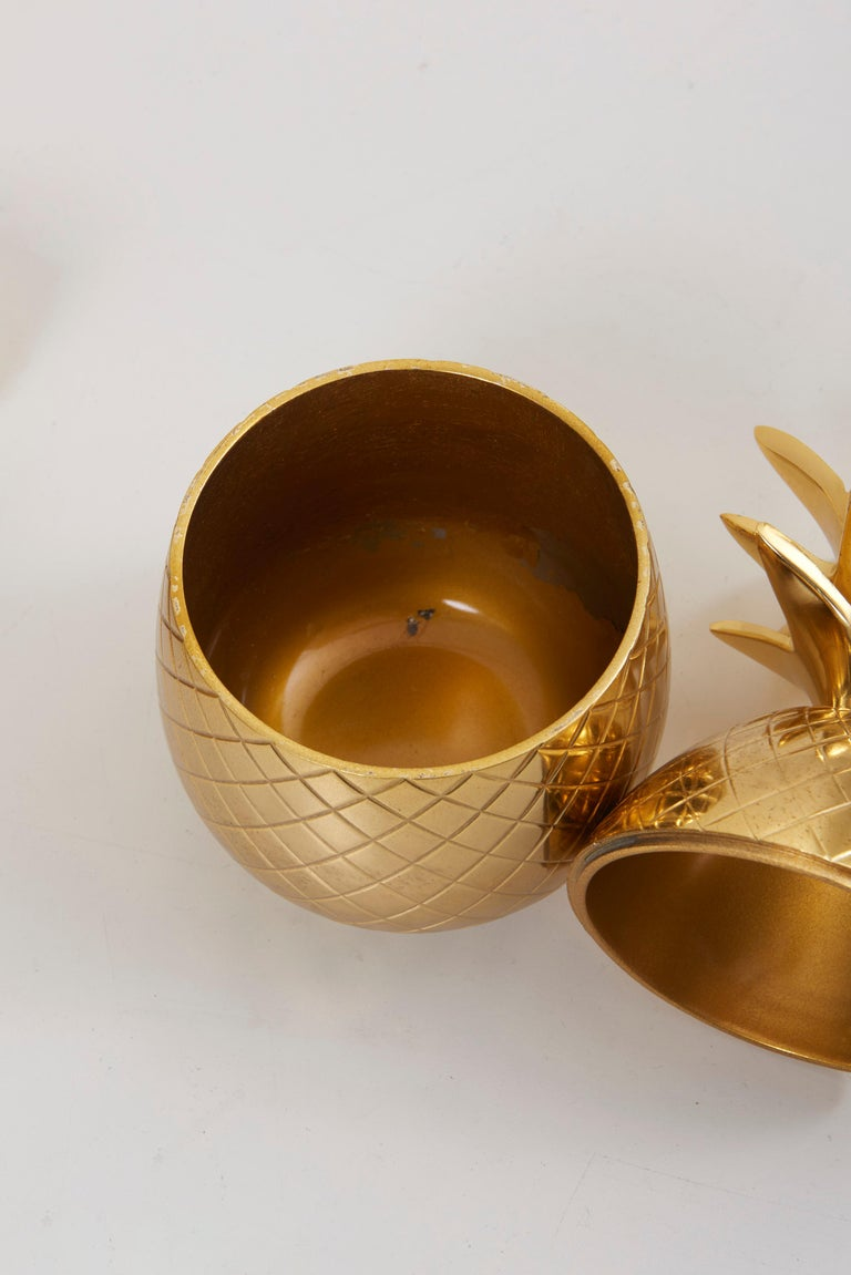 Set of 3 Brass Pineapple Ice Buckets or Candy Boxes In Excellent Condition For Sale In Berlin, DE