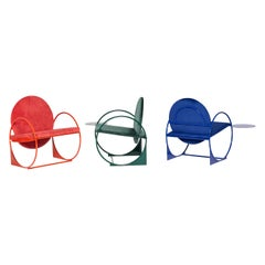 Set of 3 Bullarengue Armchairs by Ángel Mombiedro