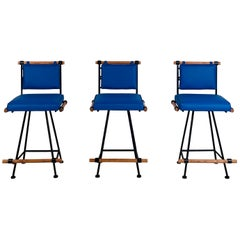 Set of 3 California Modern Swiveling Counter Stools