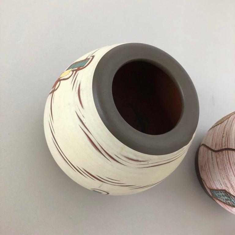 Set of 3 Ceramic Pottery Vase by Sawa Ceramic Franz Schwaderlapp, Germany 1960s For Sale 5