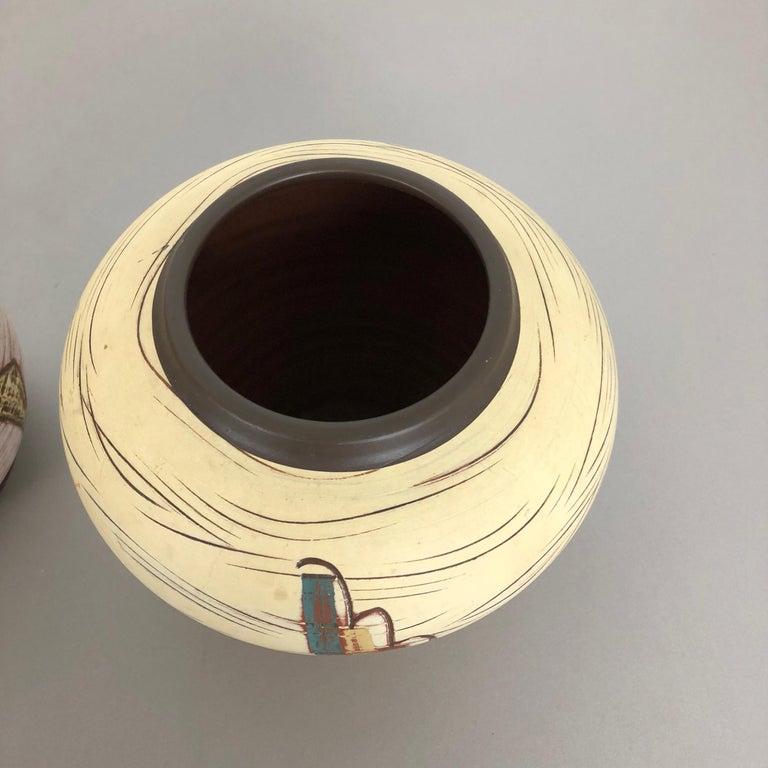 Set of 3 Ceramic Pottery Vase by Sawa Ceramic Franz Schwaderlapp, Germany 1960s For Sale 2
