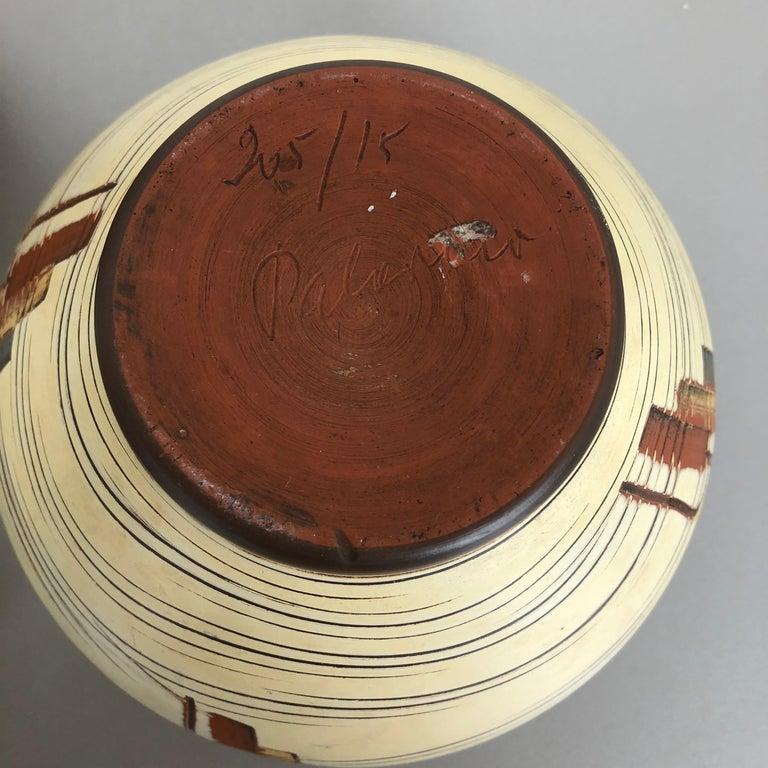 Set of 3 Ceramic Pottery Vase by Sawa Ceramic Franz Schwaderlapp, Germany 1960s For Sale 4