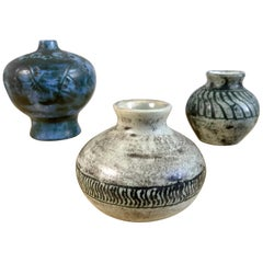 Set of 3 Ceramics by Jacques Blin, France, 1950