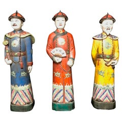 Set of 3 Chinese Porcelain Figures