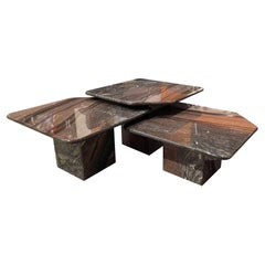Set of 3 Cipolin Marble Nesting Coffee Table