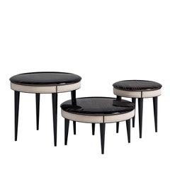 Set of 3 Coffee Tables in Ebony