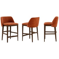 Set of 3 Contemporary Counter Height Stools
