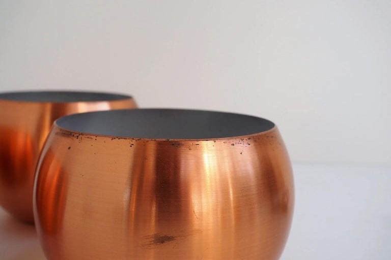 Set of 3 Copper Pendants, Classic Danish Vintage Design from the 1960s For Sale 4
