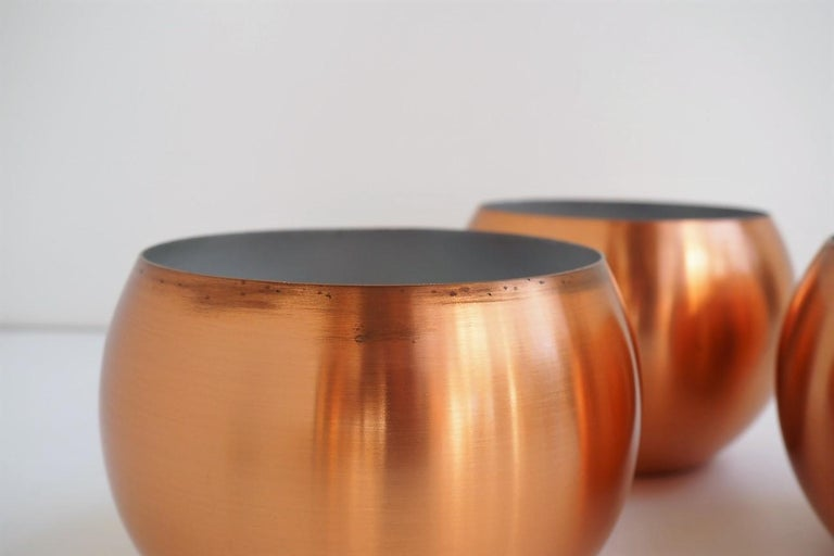 Set of 3 Copper Pendants, Classic Danish Vintage Design from the 1960s For Sale 3