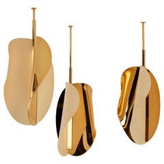 Set of 3 Corolle Pendant Light by Mydriaz