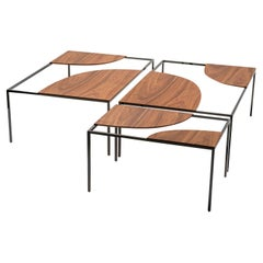 Set of 3 Creek Coffee Table by Nendo