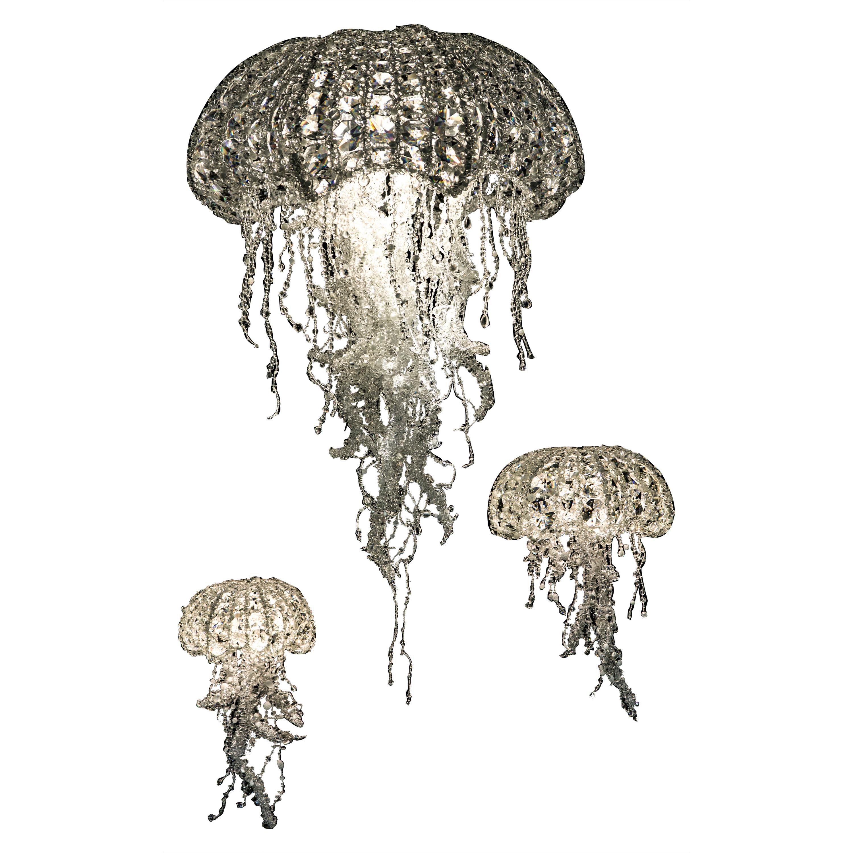 Set of 3 Crystal Medusas by Geraldine Gonzalez