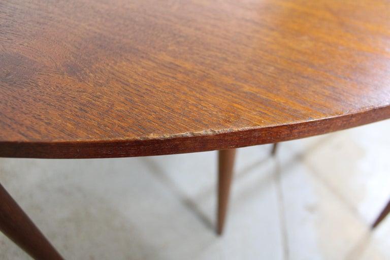 Set of 3 Danish Modern Teak Boomerang Jackknife Accent Nesting Tables For Sale 3