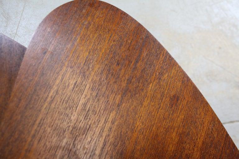 Set of 3 Danish Modern Teak Boomerang Jackknife Accent Nesting Tables For Sale 2