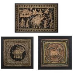 Set of 3 Decorative Wall Tapestries from Burma