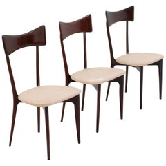 Set of 3 Dining Chairs by Ico & Luisa Parisi for Ariberto Colombo, Italy, 1955
