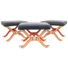 Set of 3 Dorothy Draper Espana Collection Benches For Heritage Henredon