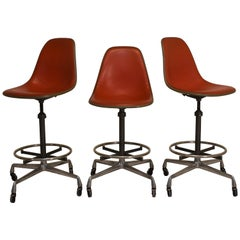 Set of 3 Eames EC123-36 Stools