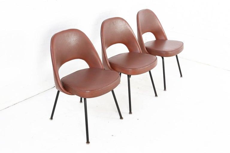 Mid-Century Modern Set of Two Eero Saarinen Series 71 Armless Chair for Knoll, 1960s De Coene