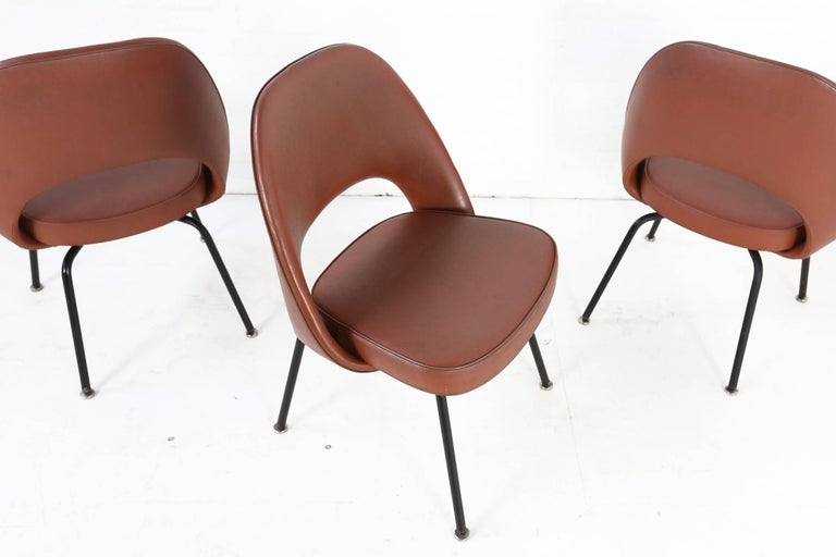 Set of Two Eero Saarinen Series 71 Armless Chair for Knoll, 1960s De Coene 1