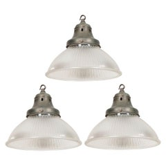 Set of 3 English Industrial Factory Pendants