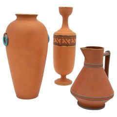 Set of 3 Etruscan Style Decorative Vases