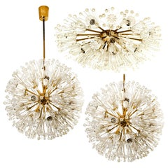 Set of 3 Fabulous Emil Stejnar Snowball Orbit Sputnik Light Fixtures, Austria