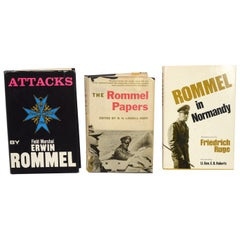 Set of 3, First Edition Books on Field Marshal Erwin Rommel