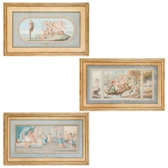 "Set of 3 Gouache Paintings ""Doria Pamphilj"""
