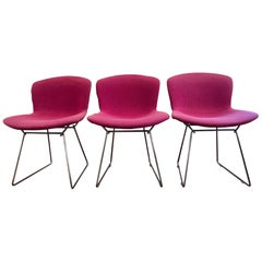 Set of 3 Harry Bertoia Wire Chairs for Knoll International, circa 1950