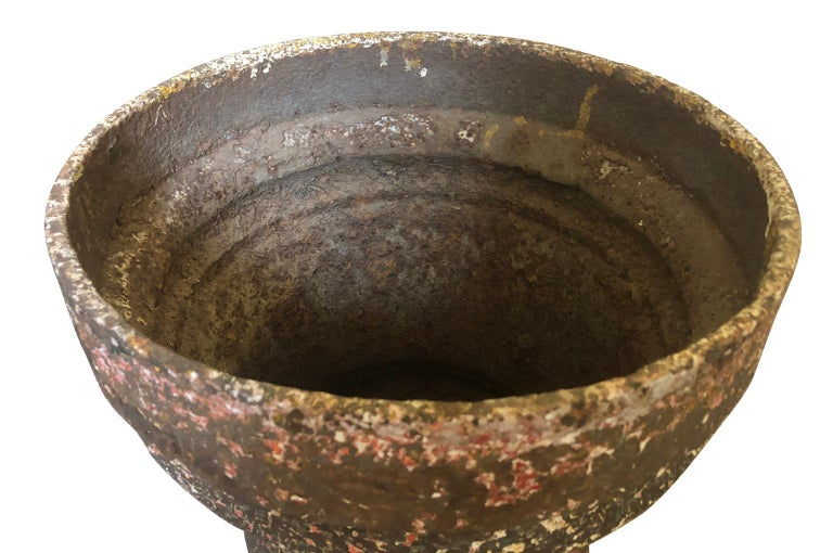 Set of 3 Iron Jardinieres, Cache Pots For Sale 2