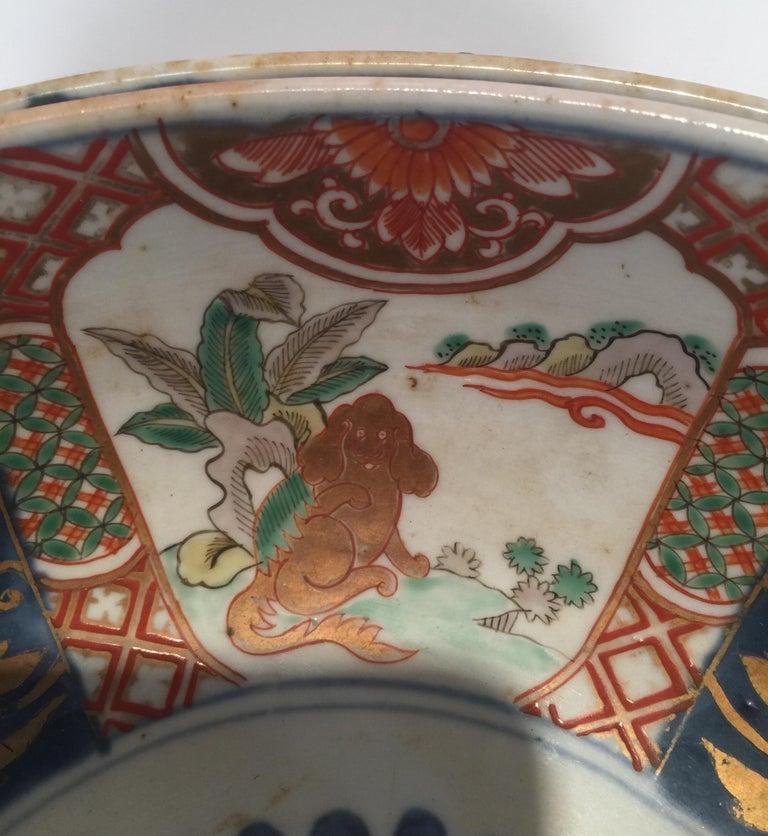 Set of 3 Japanese Imari Graduated Porcelain Bowls For Sale 6