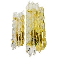 Set of 3 Karl Fagerland Orrefors Bubble Crystal Wall Lights