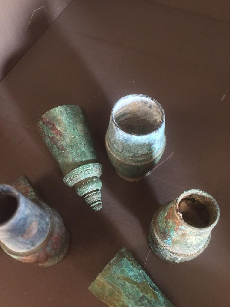 Set of 3 Khmer Bronze Betel Nut Containers For Sale 5