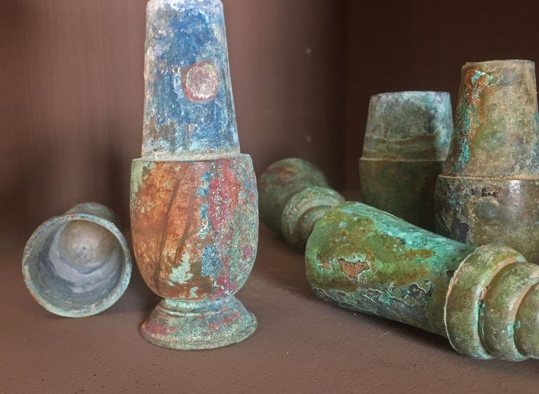 Set of 3 Khmer Bronze Betel Nut Containers For Sale 6