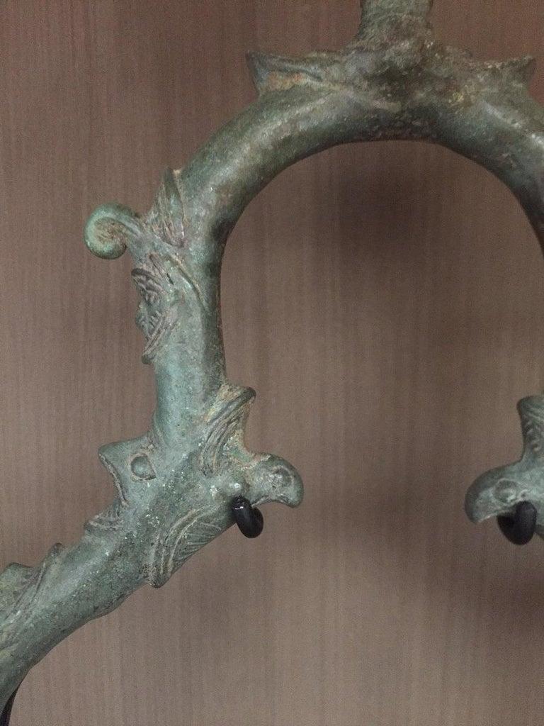 Set of 3 Khmer Bronze Palanquin For Sale 5