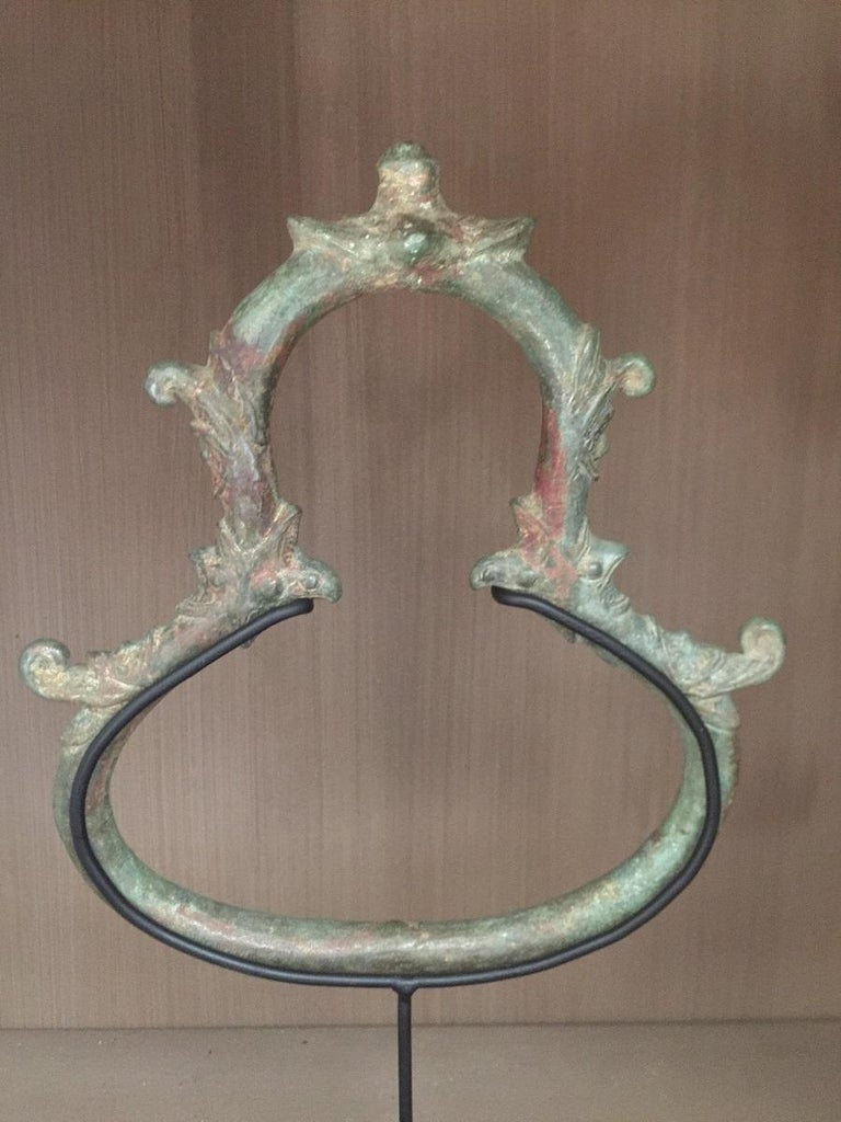 Set of 3 Khmer Bronze Palanquin For Sale 6