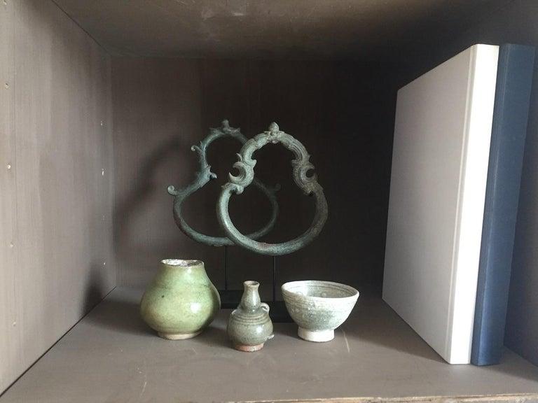 Set of 3 Khmer Bronze Palanquin For Sale 8