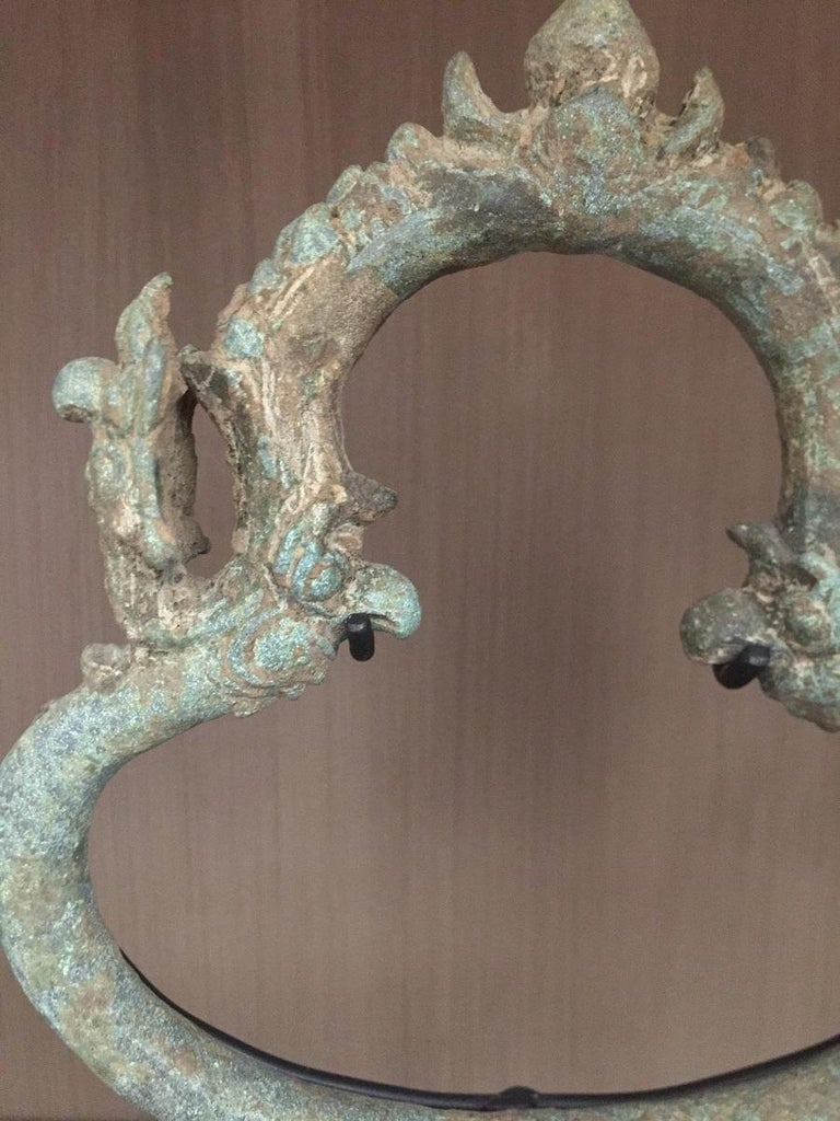 Hand-Crafted Set of 3 Khmer Bronze Palanquin For Sale