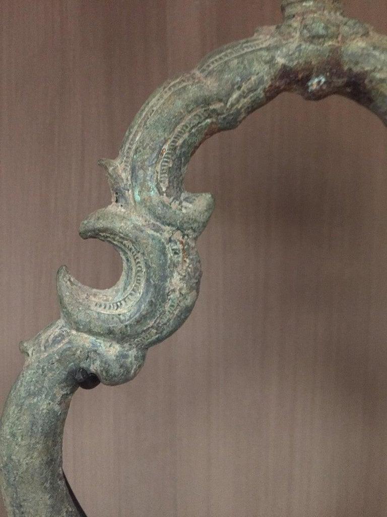 Set of 3 Khmer Bronze Palanquin For Sale 1