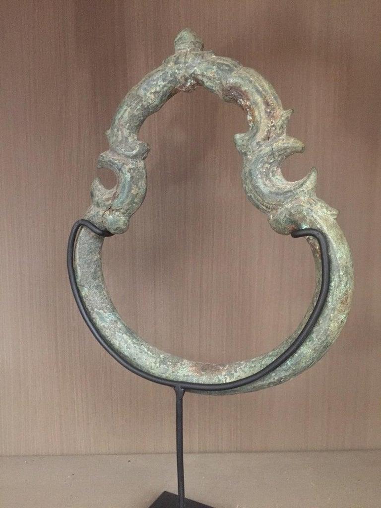 Set of 3 Khmer Bronze Palanquin For Sale 3