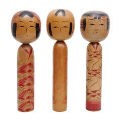 "Set of 3 ""Kokeshi"" Dolls"