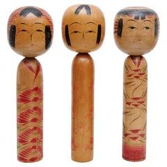 "Set of 3 ""Kokeshi"" Dolls"