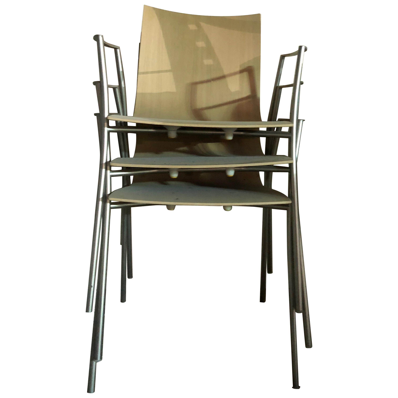 Pleasant Set Of Sixteen Lapalma Orange Stools Squirreltailoven Fun Painted Chair Ideas Images Squirreltailovenorg