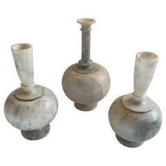 Set of 3 Lovely Vintage Alabaster Vases